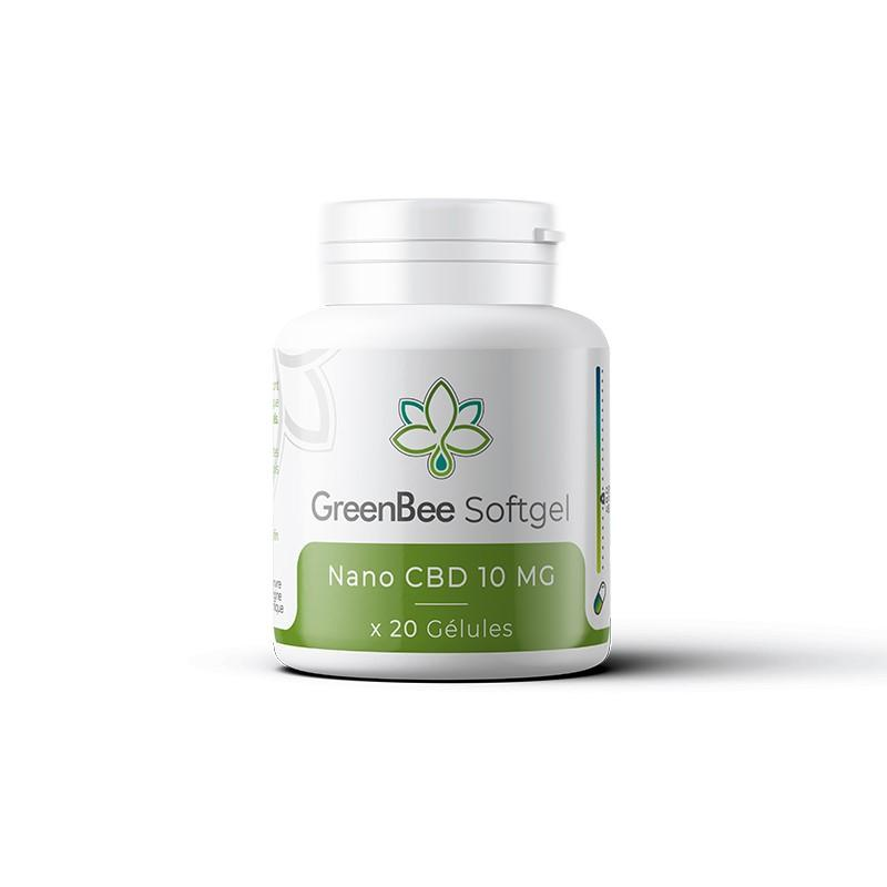 Softgel Nano CBD 10mg - GreenBee - Gélules CBD