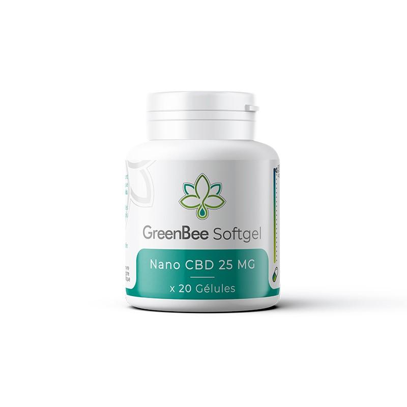Softgel Nano CBD 25mg - GreenBee - Gélules CBD