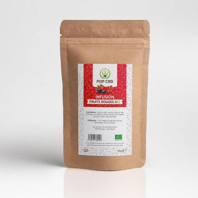 Infusion chanvre Fruits rouges - Pop CBD - 35g